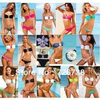 Free Shipping 2013 Fashion Padded Swimsuit Women's Rhinestone Sexy Beach wear Bikini Swimwear 14 Colors S/M/L