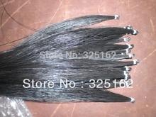 15 Hanks Black Violin Bow hair 82 cm 6 grams each hank