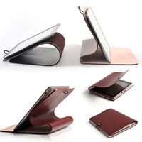 Top Grade Italian Calfskin Soft Genuine Leather Case for iPad 2 3 4 Slim Business Real Leather Stand Smart Cover  for iPad 2 3 4