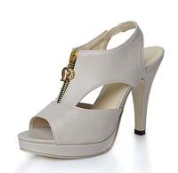 Fashion thick heel sandals women's open toe shoes platform high-heeled sandals size 34-43