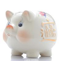 Ceramic piggy bank, piggy, creative gift decoration, lovely, felicitous wish of making money ~