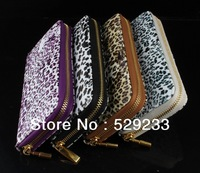 ZBJY HOT 2014 New Fashion Leopard brand women purse wallets leisure brand genuine leather with PU wallet clutch purses for women
