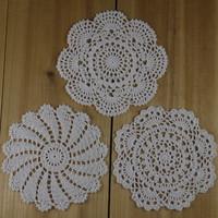 Handmade Crocheting Doilies Vintage Placemats 20x20CM -- 30PCS Physical picture 100%