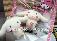 2014 new arrival RARE japan tokyo aoyama cinnamoroll  jumbo squishy charms with melody bag  10cm PU soft toy freeshipng