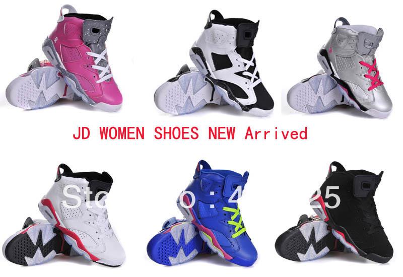 J 6 chaussures pour femmes en cuir chaussures de basket taille us 5.5-8.5