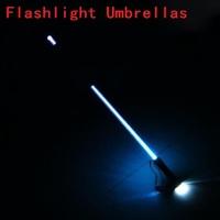 Hand Torch Fashion Straight Pole Light Led Umbrella Long Handle LED Umbrella Flashlight Umbrellas U-07