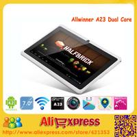 Wholesale Q88 Pro Allwinner A23 Q88 Dual Core Tablet PC 7 Inch Dual Camera Wifi External 3G,50pcs/lot DHL Free shipping