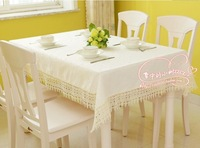 European style upscale hotel soluble lace tablecloths tablecloth 140*180cm yellow free shipping