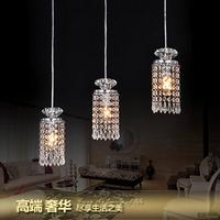 2014 Special Offer Promotion Knob Switch Lustre Modern Brief Led Restaurant Lights Crystal Pendant Light Bar Lamp Lighting Lamps