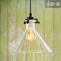 2014 Real Hot Sale Knob Switch Lustres De Teto Lustre Yc Modern Personalized Bar Counter Lamp Single Glass Pendant Light Funnel