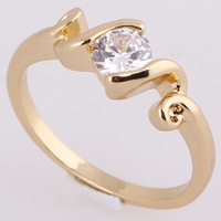 CZ Fashion Jewelry 18K Gold Plated Round Wedding Ring Mix $10 Free Shipping