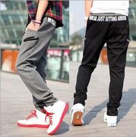2014 Promotion Hot Sale Straight Active Mid Cotton Elastic Waist Men's Sports Pants Banding Sweat Plus Size M-xxl Cb