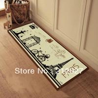 Free shipping Anti Slip floor mat Effiel tower slip-resistant Door mat /Charpet /rug /kitchen floor mats 40X100CM