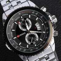 New Curren brand Men quartz watch stainless steel strap military wathes Men luxury brand wristwatch relojes waterproof  WAT226