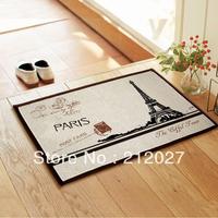 Free shipping ZAKKA Coton Linen Anti Slip floor mat Effiel tower slip-resistant Door mat /carpet mats /rug mat 80X50CM