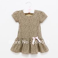 2014 baby kids clothing girls leopard dress cute lovely dresses