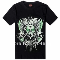 Top quality women and men fashion 3D Hip-hop punk rock plus size fluorescent skull short sleeve T-Shirts
