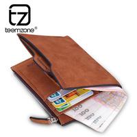 2014 New fashion men wallet Nubuck cowhide male wallet genuine leather man scrub vintage short purse