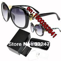 Free Shipping new 2014 Europe And America Big Sunglass fashion brand designer Luxury Sunglasses Original package oculos de sol