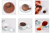 8pcs orange puerh tea puer 2005 year ripe pu erh tea orange fragrance old puer tea