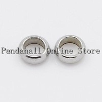 Stainless Steel Beads,  Ring,  4x4mm,  Hole: 2.5mm