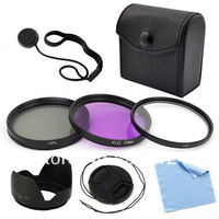 Free shipping 49mm Filter Set Lens cap Lens Hood For Canon EOS Rebel SL1 T5i T4i T3i 6D