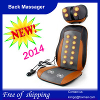 Free shipping,Wholesale and Retail,Walmart Car&Chair Back Seat massage Heated Cushion,Warmer Cushion Back massager with LED