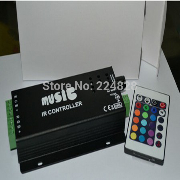 Free Shipping 24keys RGB IR Music & Audio sound sensitive LED Controller 9 Channels DC12V input Remote Controller(China (Mainland))