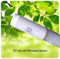 Microwave Sensor T8 tube 1200mm SMD2835 96pcs leds idea for car park garage 50pcs/lot  cheap price Fedex free shipping