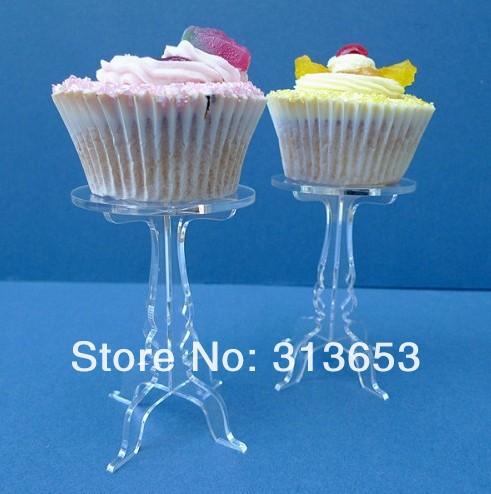 Cake pan Acrylic/cake stand dessert plate wedding dessert plate/cupcake stand/wedding favors(7.5x12cm)-free shipping(China (Mainland))