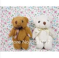 Teddy bear flowers bear sitting height 13 cm bear plush toy doll joints valentine's day
