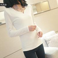 2014 spring women's basic shirt slim brief fashion long-sleeve T-shirt female