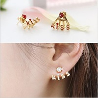 Min order $10 (mi xorder) crystal kiss lovely earrings
