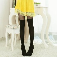 nz299 Free Shopping 1pcs fashion tights Thin leg Japanese female over-the-knee black tights stocking /silk tights