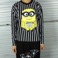 2014 cartoon milk bars Despicable me 2 The Minions small loose long-sleeve pullover sweatshirt