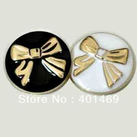 25mm enamel ribbon charm 60Pcs lot fashion shank button accessories