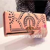 2014 elegant fashion geometric cutout  design women's long wallet girl's handbag purse day clutch