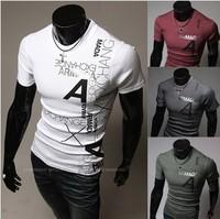 2014 summer fashion casual men hoodies Hot letters printed man hoody short sleeve T-shirt sportswear sweatshirt men's clothing