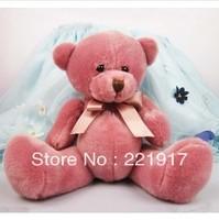 The new candy color teddy bear doll tie teddy bear plush toys 13.5 CM