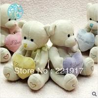Teddy bear hug bear doll birthday female doll plush toy bear hug the valentine heart Love bear 15 cm  A single