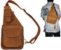Free shipping fashion design shoulder bag_mens brown shoulder bag_genuine leather shoulder bag_backpack sling shoulder bag_gift