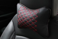New 2/Pcs hight PU leather headrest neck pillow Car Auto Seat cover Head Neck Rest Cushion Headrest Pillow Free shipping