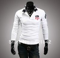 Free shipping 2014 new sports men t-shirt brand fashion design long sleeve raglan sleeve man t shirt Slim tops tees