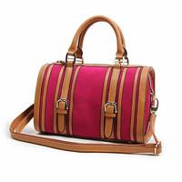 Fashion nubuck cowhide color block BOSS fashion pillow portable one shoulder cross-body women's genuine leather handbag