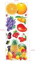 Free Shipping Kitchen Sticker Fridge, orange Fruit Pattern Wall Sticker ADL309