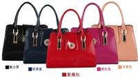 2015 new patent leather embossed handbag shoulder diagonal wave packet shaping factory wholesale handbags women leather handbags