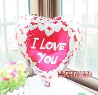 high quality 18inch 10pcs/lot i love you wedding decoration balloons heart shape wedding ballons decoration free shipping