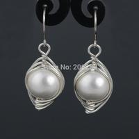 S99 silver pearl shell earrings female fashion pearl earring