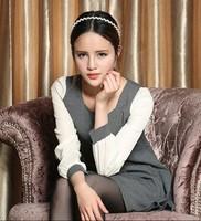 New 2014 Fashion Korean Slim thin big swing dress Free shipping      q3044