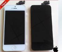 BLACK Front digitizer LCD Touch Screen Glass PANTALLA TACTIL TOUCH GLAS ECRAN TACTILE for iphone 5G